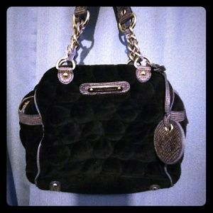 Handbags - Juice Couture black velvet black label hobo